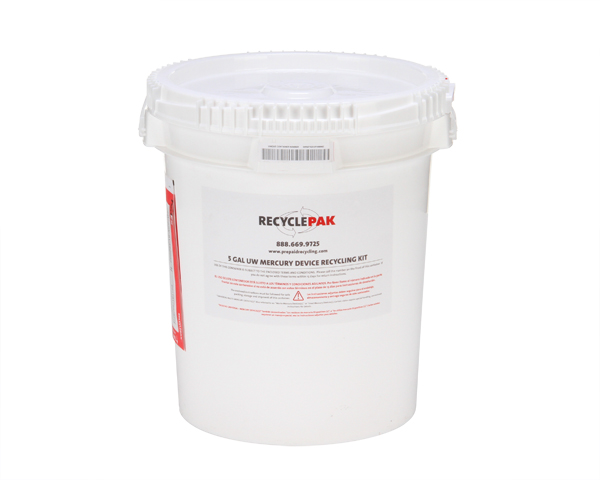SUPPLY-049- 5 GAL UW MERCURY DEVICES RECYCLING PAIL